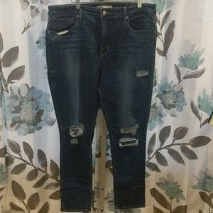 Levi's High Rise Skinny Jeans Distressed Size 34